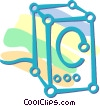 computer stereo speakers Vector Clipart picture