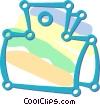 Vector Clip Art image  of a bulldog clip