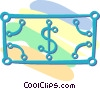 Vector Clip Art graphic  of a dollar bill