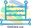 Vector Clip Art picture  of an abacus
