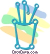 pencil holder Vector Clipart illustration