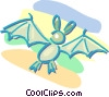 Vector Clip Art picture  of a bat