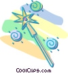 Vector Clip Art picture  of a magic wand