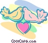 love birds Vector Clip Art picture