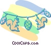 Vector Clipart picture  of a Christmas decorations