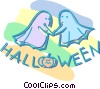 Vector Clip Art image  of a Halloween ghosts