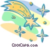 Vector Clipart graphic  of a falling star