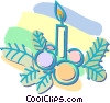 Vector Clipart illustration  of a Christmas candle