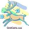 Vector Clip Art picture  of a reindeer