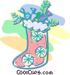 Christmas stocking Vector Clipart picture