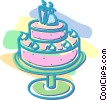 Vector Clip Art image  of a wedding cake