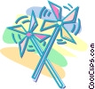 Vector Clip Art graphic  of a pinwheel