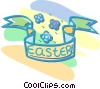 Vector Clipart illustration  of a Easter banner