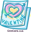Vector Clipart graphic  of a Valentine's day card