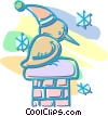 Vector Clipart graphic  of a Christmas bird sitting on a