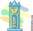 grandfather clock Vector Clipart illustration
