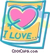Valentine's Day Card Vector Clipart illustration