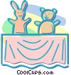 Vector Clip Art graphic  of a puppet show