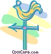 Vector Clip Art graphic  of a weathervane