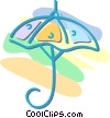 Vector Clip Art image  of a umbrella