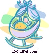 baby in a carriage Vector Clipart graphic