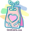 Valentine's day treat bag Vector Clip Art picture
