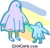 Vector Clipart graphic  of a Halloween ghosts