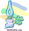 oil lantern with shamrock Vector Clipart picture