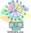 Ferris wheel Vector Clipart graphic