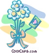 Vector Clipart picture  of a bouquet of flowers