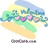 Vector Clip Art graphic  of a St. Valentine's Day banner