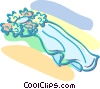 wedding veil Vector Clip Art picture