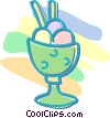 Vector Clip Art image  of a ice cream dessert