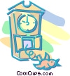 Vector Clip Art image  of a cuckoo clock