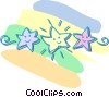 star banner Vector Clipart illustration