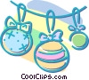 Christmas decorations Vector Clipart image