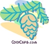 Vector Clipart picture  of a pine cone