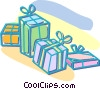 Christmas presents Vector Clipart graphic
