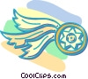 Vector Clip Art graphic  of a wheel with wings