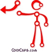 person pointing to an arrow Vector Clip Art image