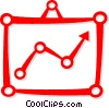 Vector Clip Art graphic  of a sales chart