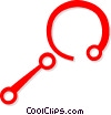 Vector Clipart illustration  of a magnifying glass