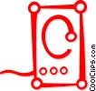 Vector Clip Art image  of a computer speaker