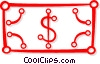 dollar bill Vector Clip Art graphic