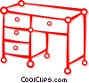 Vector Clip Art graphic  of a desk