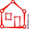 Vector Clip Art image  of a house