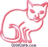 Vector Clipart image  of a cat