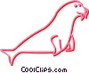 Vector Clipart picture  of a seal