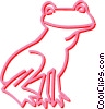frog Vector Clip Art graphic