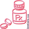 pills Vector Clipart illustration